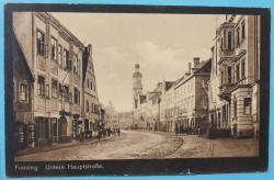 Ansichtskarte Freising. Untere Hauptstraße.