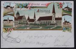 Ansichtskarte Altötting Lithographie 1901