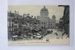 Ansichtskarte Bern - Markt und Parlamentsgebäude