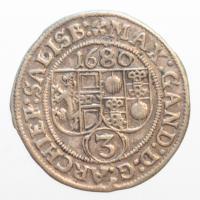 Salzburg, Max Gandolph, 1668-1687, 3 Kreuzer (Groschen) 1680