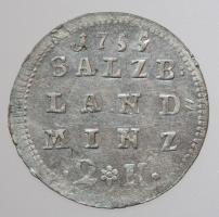 Salzburg, Sigismund Schrattenbach, 1753-1771: 2 Kreuzer (Halbbatzen) 1755