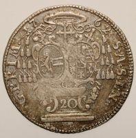 Salzburg, Sigismund Schrattenbach, 1753-1771: 20 Kreuzer 1762