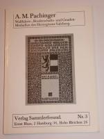 Pachinger: Wallfahrtsmedaillen Salzburg
