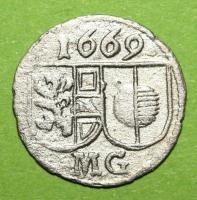 Salzburg, Max Gandolph, 1668-1687, Pfennig 1669