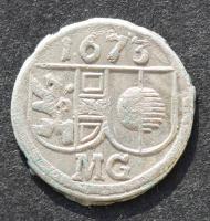 Salzburg, Max Gandolph, Pfennig 1673