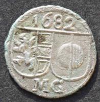 Salzburg, Max Gandolph, Pfennig 1682