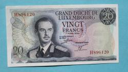 Luxemburg 20 Francs 7.3.1966