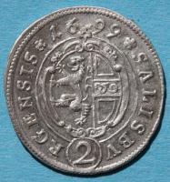 Salzburg, Thun Hohenstein 2 Kreuzer (Halbbatzen) 1699