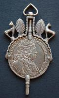 Doppeluhrschlüssel 1/2 Taler, Karl VI. 1718, Mitte 19.Jhdt.