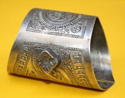 2 St. Armreifen, ca. 1870, 900er Silber Punze