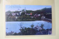 MÜNZEN MACHO ansichtskarte : Tittmoning vom österr. Ufer mit Salzachbrücke