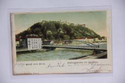 Graz, Ferdinandsbrücke mit Schafsberg