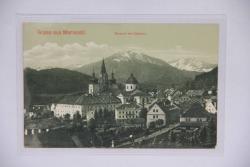 Mariazell mit Oetscher, Gruß aus Mariazell