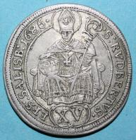 Salzburg, Max Gandolph, 1668-1687, 15 Kreuzer 1686