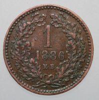 Franz Josef, 1 Krajczar 1886 KB